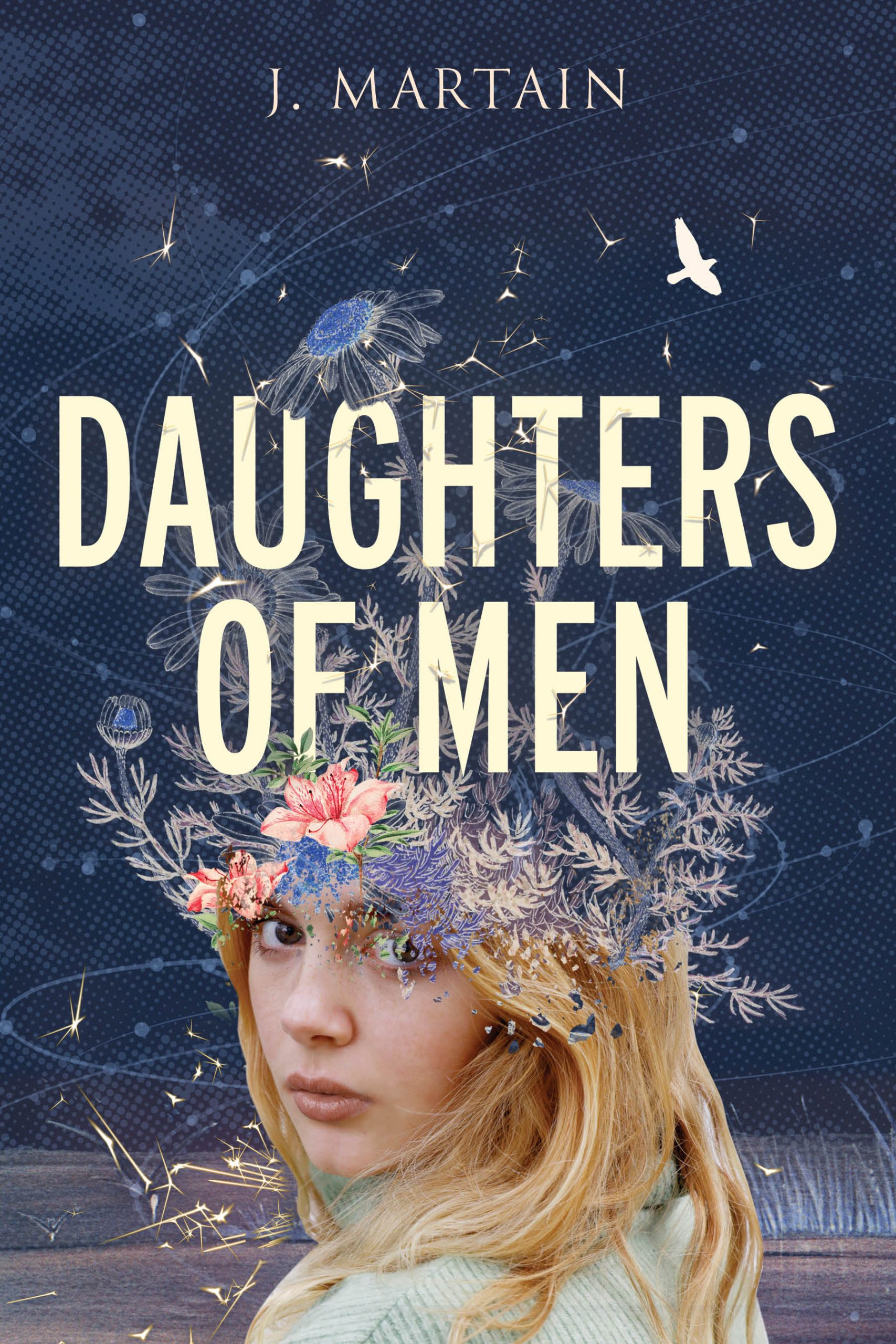 cover image Daughters of Men speculative fiction novel by J Martain